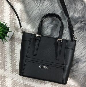 Guess Delaney Mini Petite Crossbody Tote Bag in Black